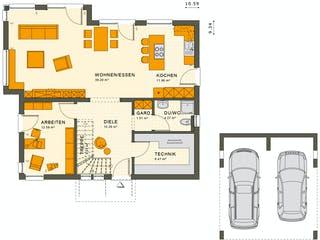 SUNSHINE 165 V2 von Living Haus Grundriss 1