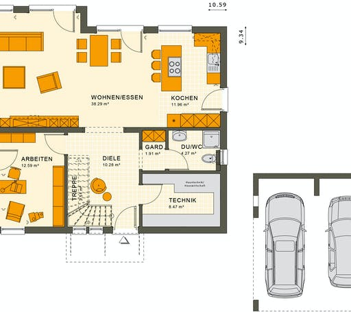 Living Haus - SUNSHINE 165 V2 Floorplan 1