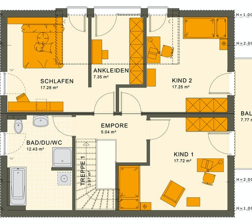 Living Haus - SUNSHINE 165 V3 Floorplan 2