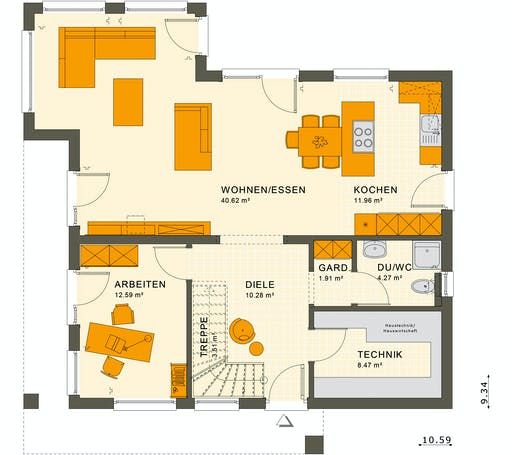 Living Haus - SUNSHINE 165 V4 Floorplan 1