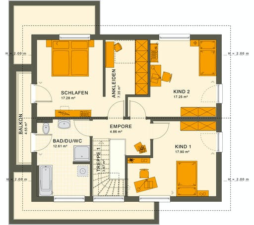 Living Haus - SUNSHINE 165 V4 Floorplan 2