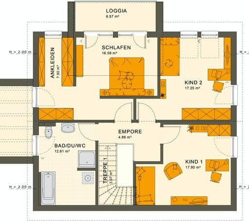Living Haus - SUNSHINE 165 V5 Floorplan 2