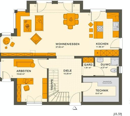 Living Haus - SUNSHINE 165 V6 Floorplan 1