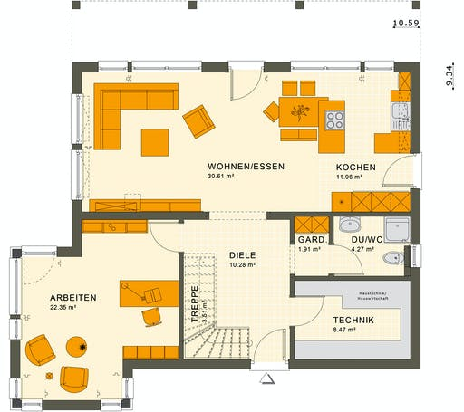 Living Haus - SUNSHINE 165 V7 Floorplan 1