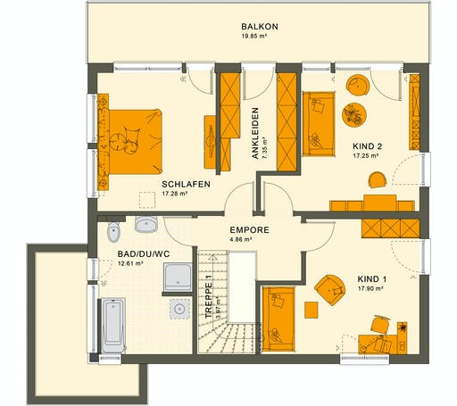 Living Haus - SUNSHINE 165 V7 Floorplan 2