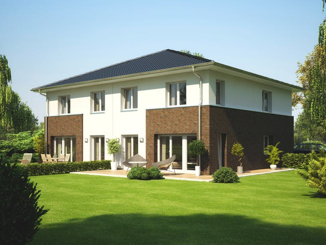 Doppelhaus L10 von Heinz von Heiden Massivhäuser Außenansicht 1