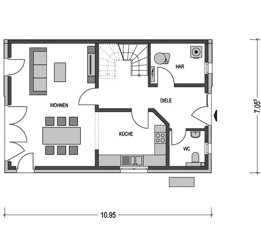 Doppelhaus Lucca Floorplan 1