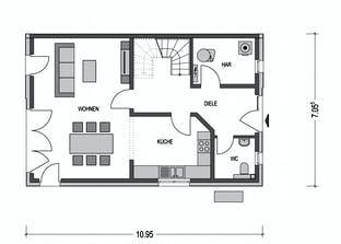 Doppelhaus L10 Grundriss