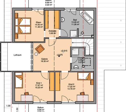 Architektenhaus Luce Floorplan 1