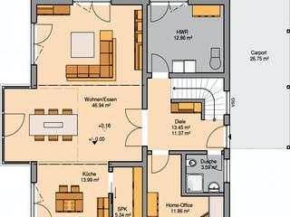 Architektenhaus Luce von Kern-Haus Grundriss 1