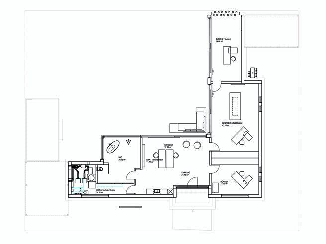 Bungalow Flachdach 170 von LUXHAUS Grundriss 1