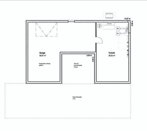 Luxhaus - Bungalow Walmdach 172 Floorplan 2