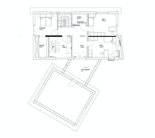 Luxhaus - Pultdach Klassik 233 Floorplan 2