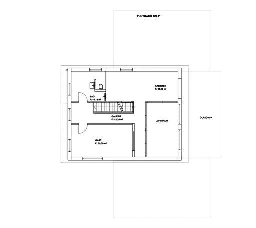 Luxhaus - Pultdach Klassik 254 Floorplan 2