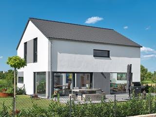 Satteldach Landhaus 126 von LUXHAUS Außenansicht 1
