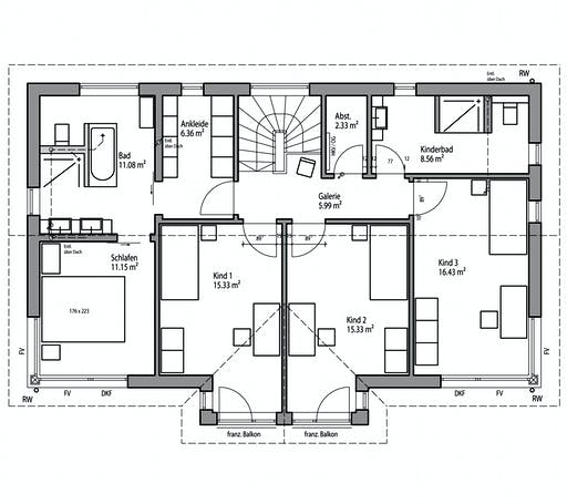 Luxhaus - Satteldach Landhaus 196 Floorplan 2