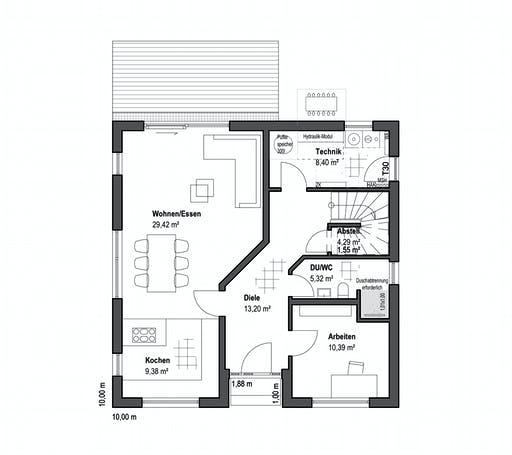 Luxhaus - Walmdach 157 Floorplan 1