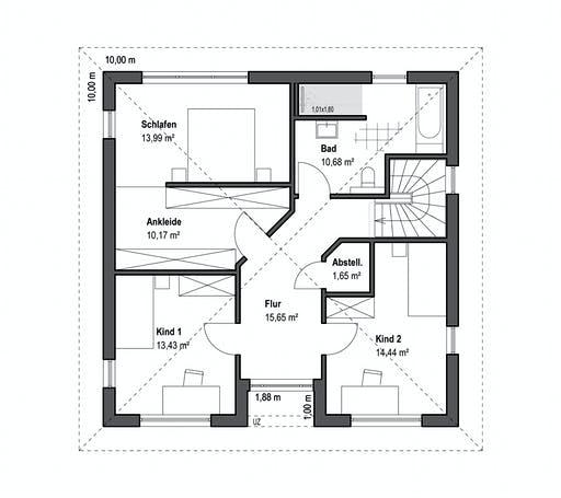 Luxhaus - Walmdach 157 Floorplan 2