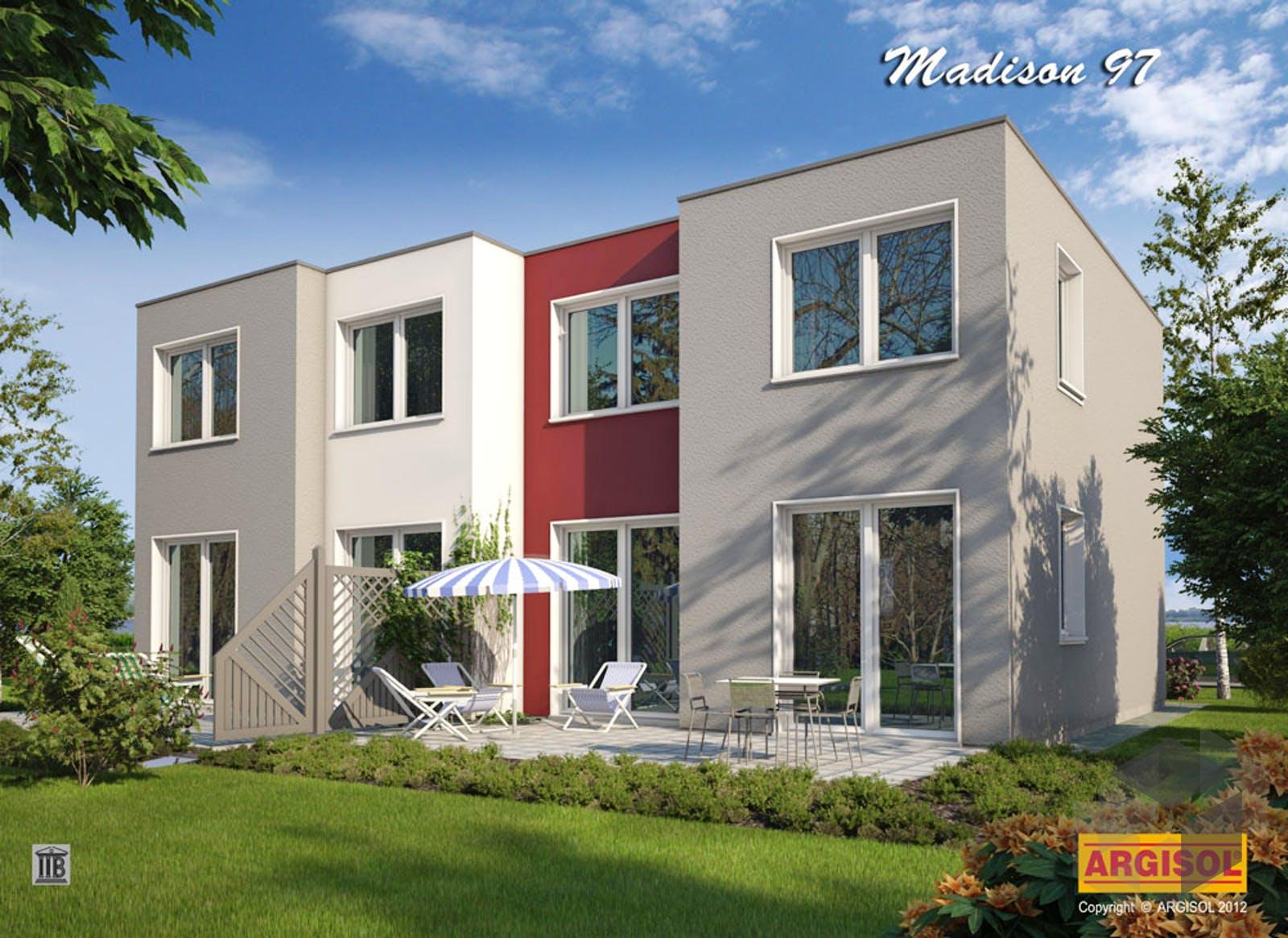 Reihenhaus fertighaus simple fertighaus bungalow s small for Mini bungalow fertighaus