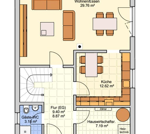 Madrid Stadtvilla Floorplan 1