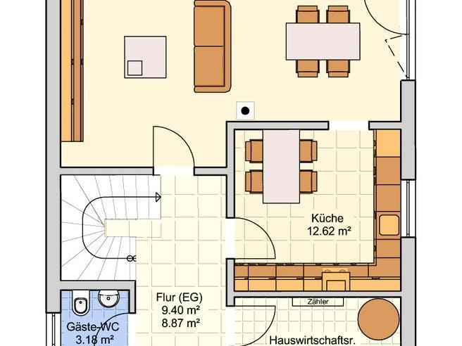 Madrid Stadtvilla Floorplan 1