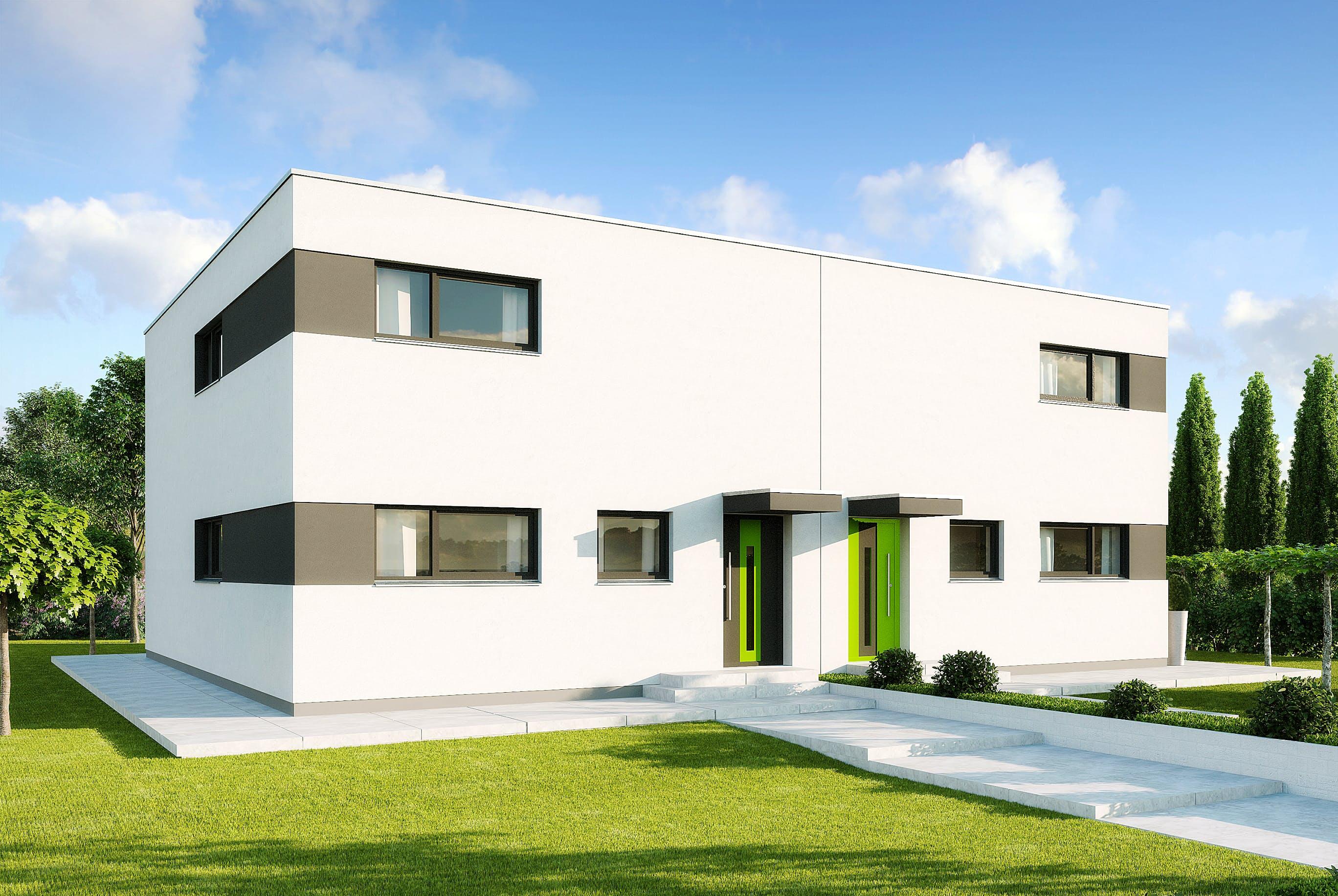 doppelhaus bauen kosten klassischer mit satteldach der firma hausfreude with doppelhaus bauen. Black Bedroom Furniture Sets. Home Design Ideas
