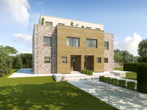 Haus mit einer Kombination aus Holz-, Klinker- und Putzfassade - Malaga exterior 0