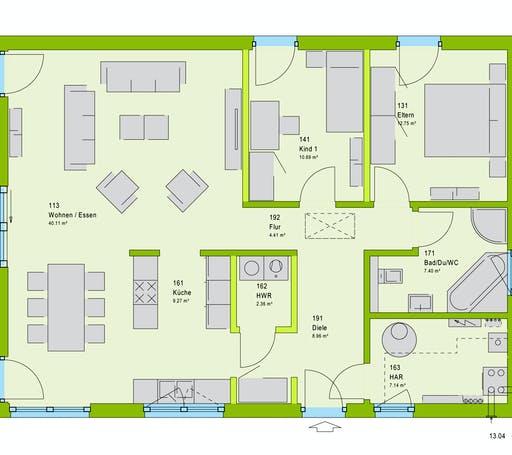 Massa ComfortStyle 10.01 W Floorplan 1