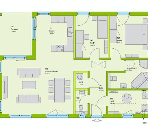 Massa ComfortStyle 10.02 P Floorplan 1