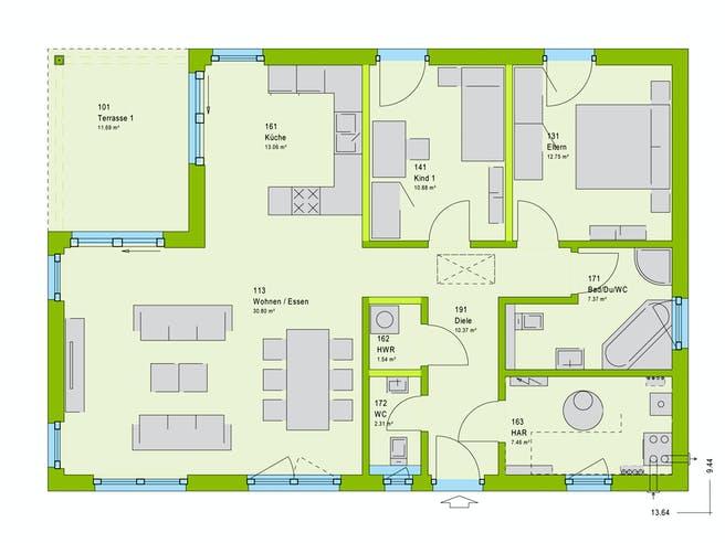 Massa ComfortStyle 10.02 W Floorplan 1
