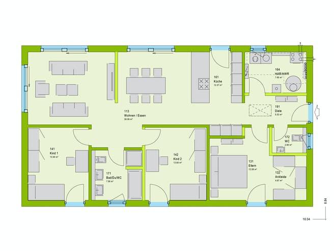 Massa ComfortStyle 11.02 S Floorplan 1