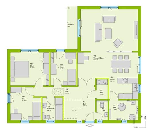 Massa ComfortStyle 13.01 W Floorplan 1
