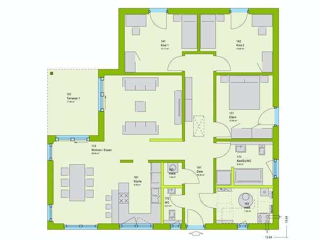 Massa ComfortStyle 13.03 W Floorplan 1