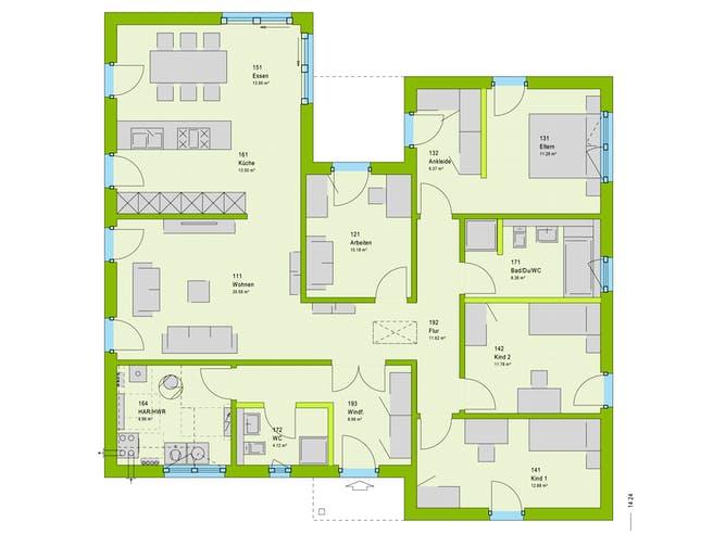 Massa ComfortStyle 14.01 P Floorplan 1