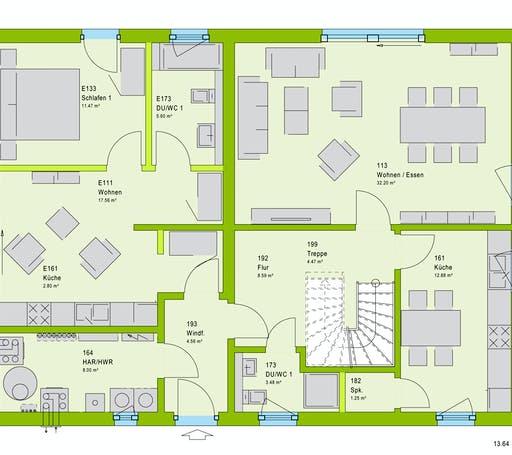 Massa FamilyStyle 20.01 S Floorplan 1