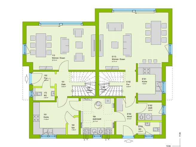 Massa FamilyStyle 24.01 S Floorplan 1