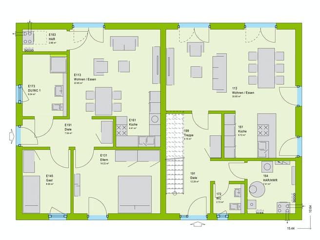 Massa FamilyStyle 26.01 S Floorplan 1