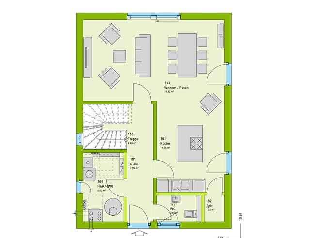 Massa LifeStyle 13.07 S Floorplan 1