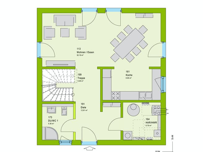 Massa LifeStyle 13.10 W Floorplan 1