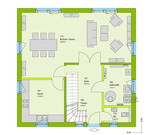 Massa LifeStyle 14.02 S Floorplan 1