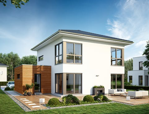 Einfamilienhaus LifeStyle 14.04 W von massa haus | Fertighaus.de