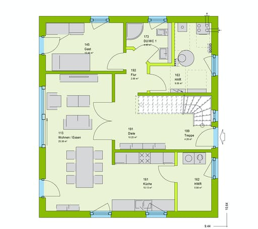 Massa LifeStyle 16.04 S Floorplan 1