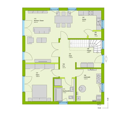 Massa LifeStyle 17.01 S Floorplan 1