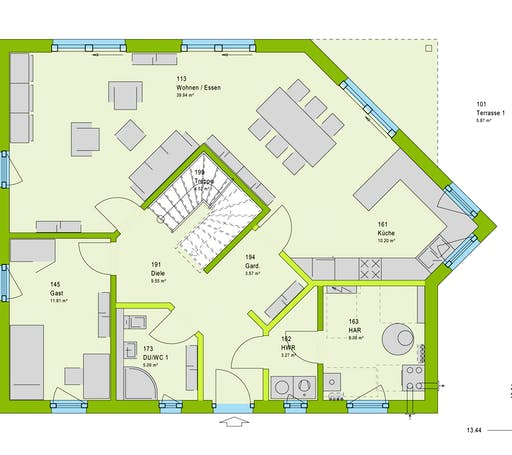 Massa LifeStyle 18.01 S Floorplan 1