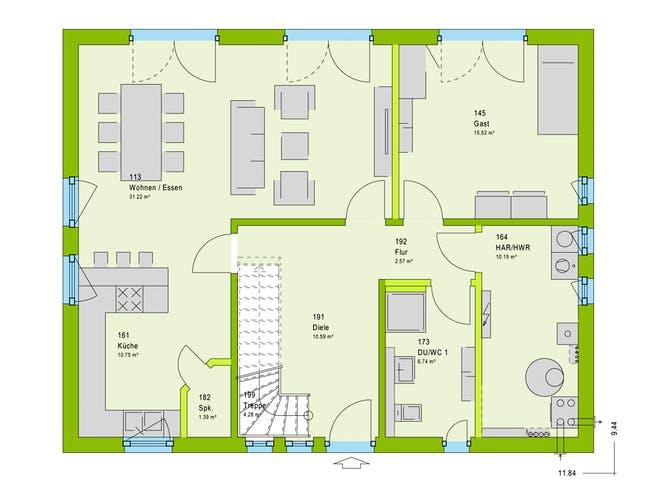 Massa LifeStyle 18.02 S Floorplan 1
