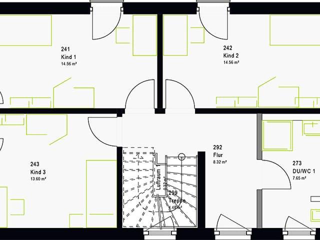 Grundriss 3 Kinderzimmer