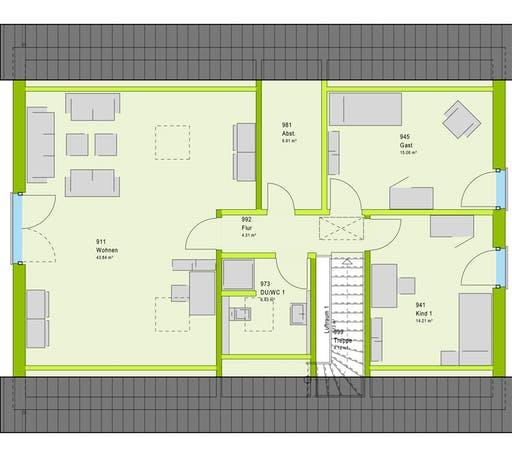 Massa LifeStyle 20.01 S Floorplan 2