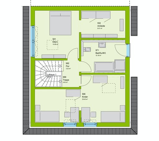 Massa TwinStyle 13.01 W Floorplan 2