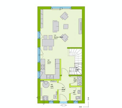 Massa TwinStyle 13.03 S Floorplan 1