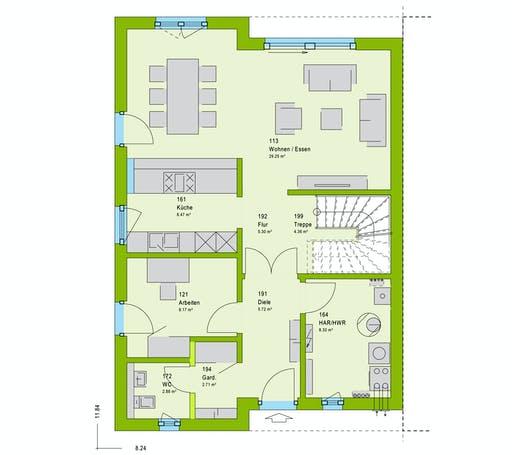 Massa TwinStyle 15.01 S Floorplan 1